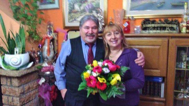 Antonio Tizzani, unico indagato, in una foto con sua moglie Gianna Del Gaudio