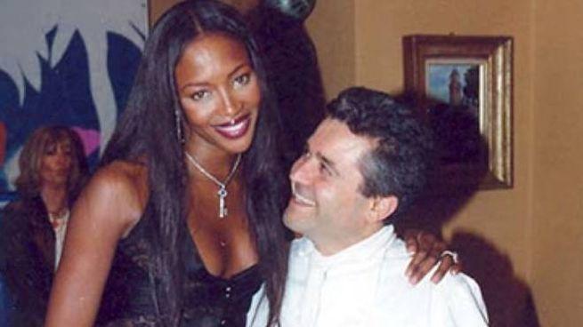Lo chef con Naomi Campbell nel ristorante di Imola
