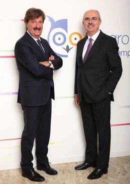 Da sinistra Dario Pardi e Valentino Bravi, presidente e amministratore delegato di Tas Group
