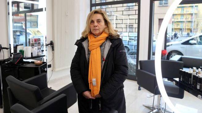Luisella Giorgi, titolare del salone 'Luis Julien' di via Mazzini