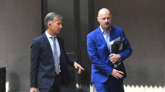 Bibbiano, Andrea Carletti assieme al suo avvocato Giovanni Tarquini