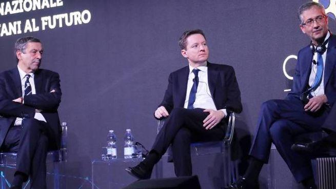 Da sinistra Francesco Profumo, Andrea Ceccherini e Hernandez de Cos (Germogli)