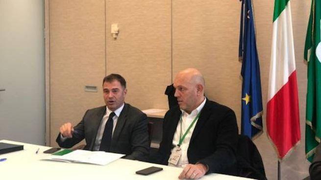 L'assessore regionale Massimo Sertori e il sottosegretario Antonio Rossi