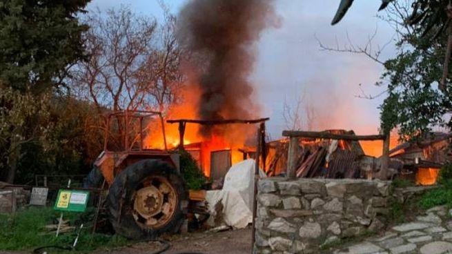 L'incendio a Caldana