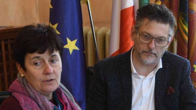 L'assessore Dina Merlo  e il sindaco Edoardo Gaffeo