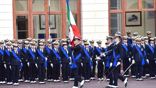 Accademia Navale di Livorno: un momento della cerimonia del giuramento (Foto Novi)