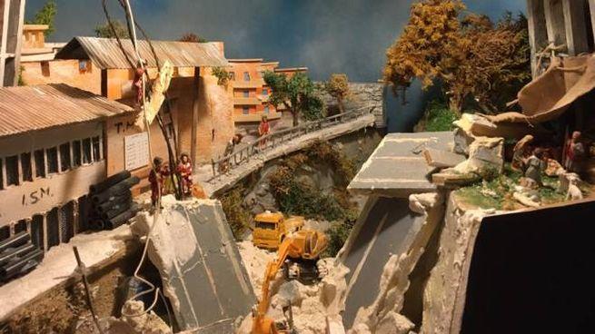 Il presepe che ricorda la tragedia del ponte Morandi