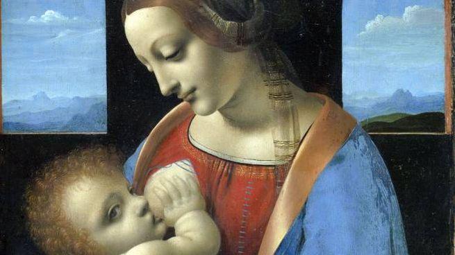 Madonna Litta (Leonardo da Vinci) Ansa)