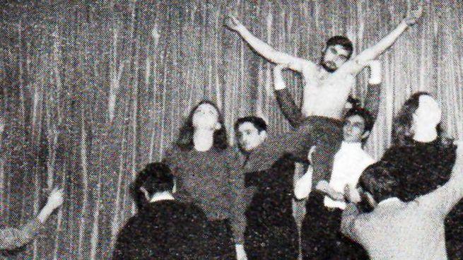 """Foto d'epoca di  """"Che cos'è l'uomo"""" tratto  dal Salmo 78 andato in scena nel 1962 a palazz"""