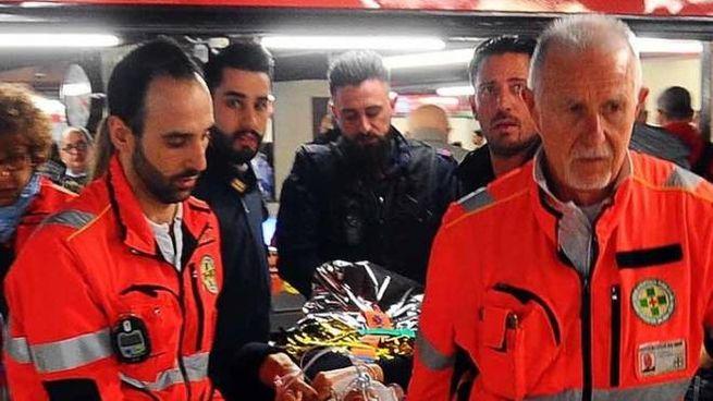I soccorsi in metropolitana