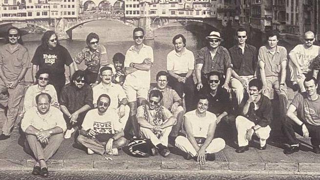 Il gruppo dei protagonisti di Firenze sogna (foto Derno Ricci)