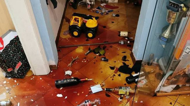Danni del terremoto in Mugello (foto Germogli)