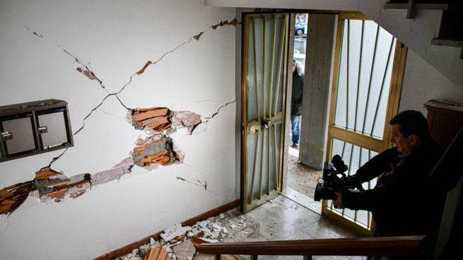 Uno degli edifici lesionati in Mugello (Germogli)