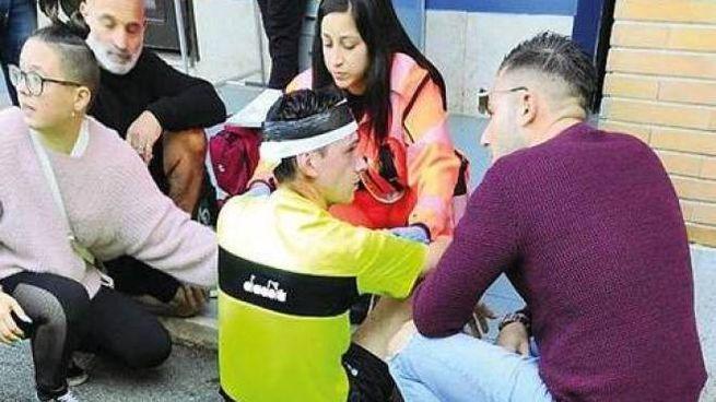 Il caso simbolo di un anno fa: l'arbitro Bernardini picchiato a Roma