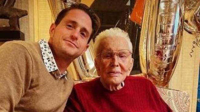 Kirk Douglas con il nipote Cameron