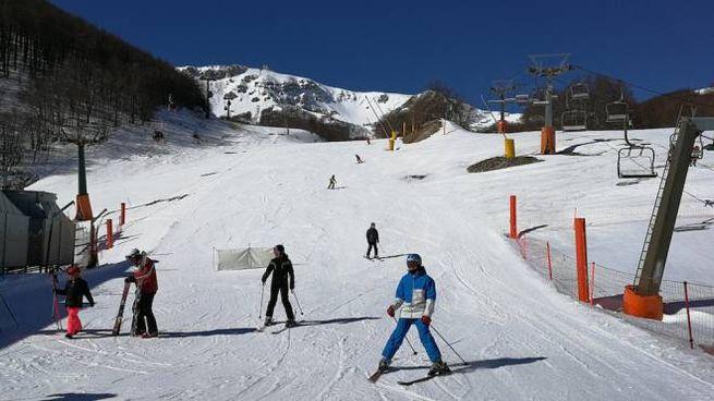 L'impianto sciistico di Roccaraso in Abruzzo