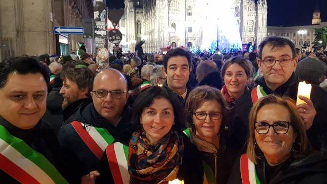I sindaci alla manifestazione per Liliana Segre