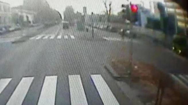Frame video telecamera filobus