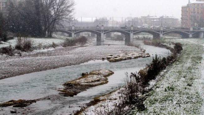 Meteo, la neve a Parma il 12 dicembre 2019 (Ansa)