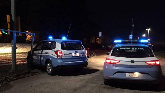 Controlli della polizia di Stato a Carpi