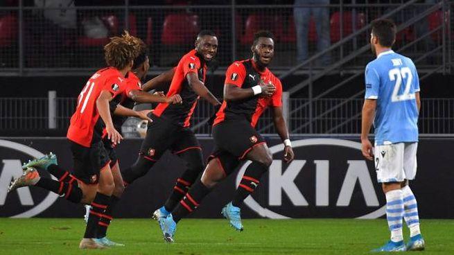 Europa League, Rennes-Lazio (foto Lapresse)