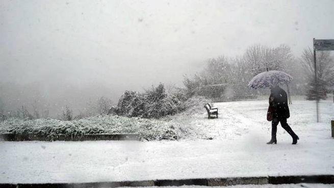 Meteo, la neve a Torino (foto Ansa)