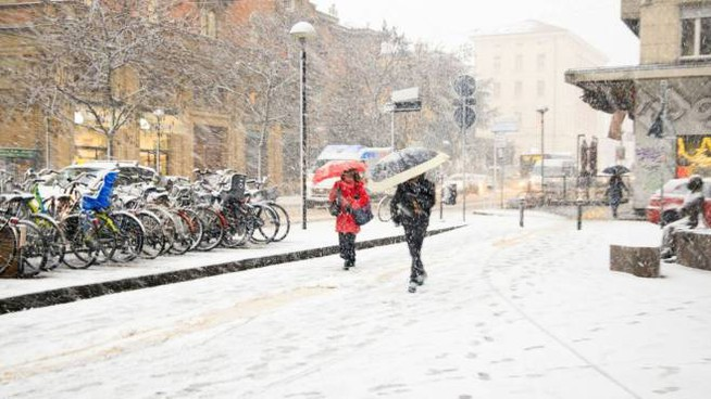 Meteo, la neve a Bologna il 13 dicembre 2019 (foto Schicchi)