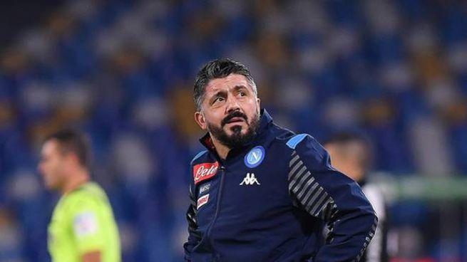 Gennaro Gattuso parte con un ko sulla panchina del Napoli (Lapresse)