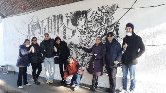 Uno dei murales dedicati a Valentina