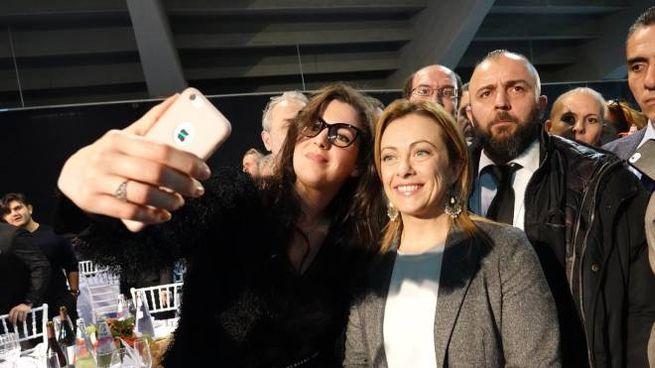 Giorgia Meloni al Mandela Forum di Firenze (New Press Photo)