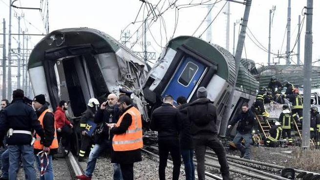 Il treno deragliato il 25 gennaio 2018