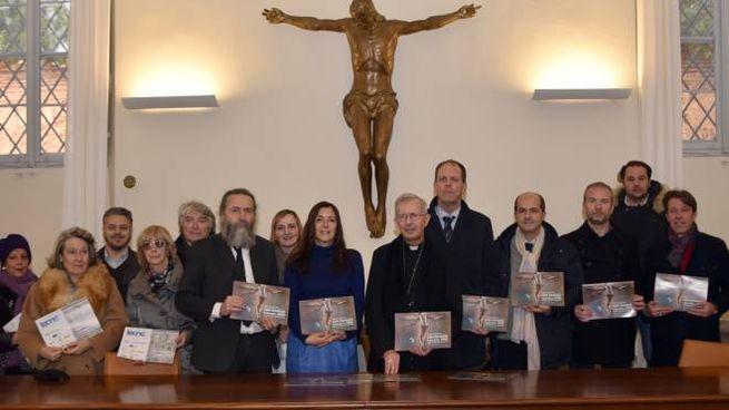 Foto di gruppo alla presentazione del calendario