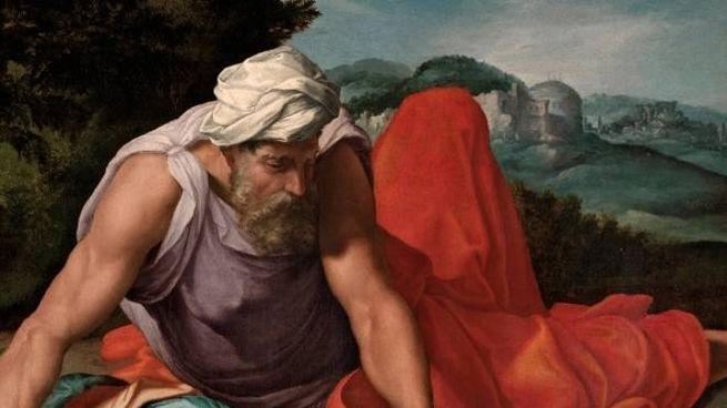 "Un particolare del dipinto ""Elia nel deserto"""