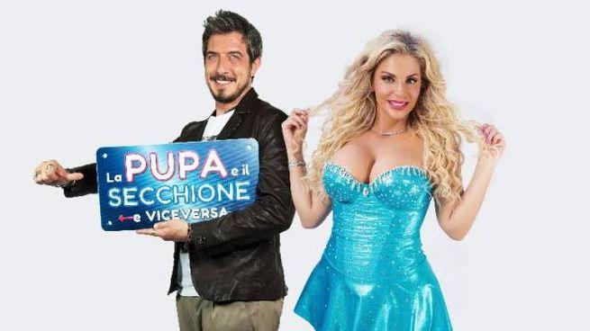 Paolo Ruffini con Francesca Cipriani