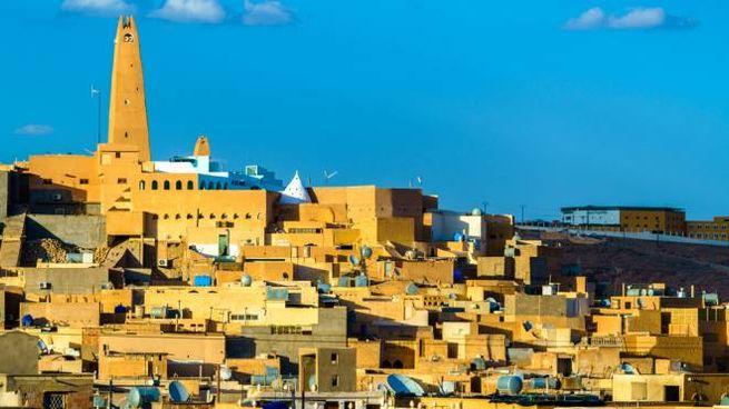 La città algerina di Ghardaia, nel deserto del Sahara