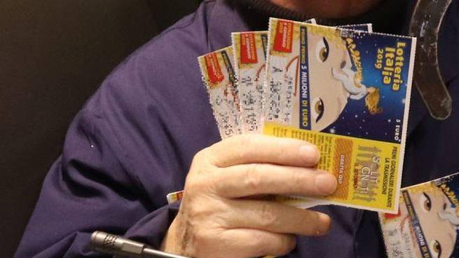 Biglietti della Lotteria Italia in una foto generica di repertorio