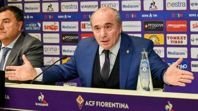 Rocco Commisso durante la conferenza stampa (Fotocronache Germogli)