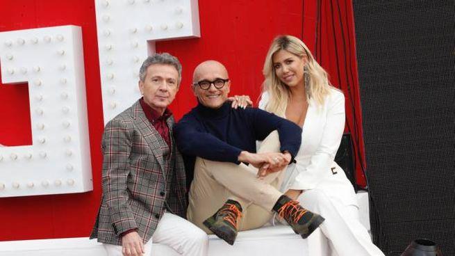 Gf Vip. Pupo, Alfonso Signorini e Wanda Nara