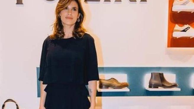Elisabetta Canalis nello stand Pollini a Pitti Uomo