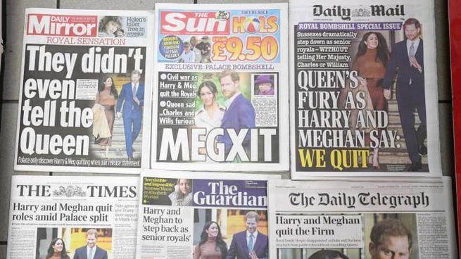 I tabloid britannici contro Meghan (Ansa)