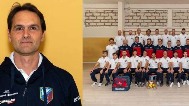 Misa calcio, l'allenatore Andrea Morsucci e la squadra