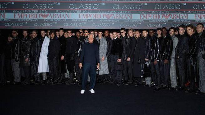 Giorgio Armani presenta la collezione maschile FW20