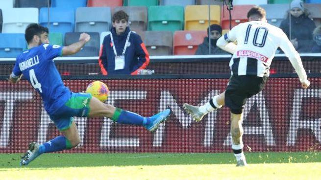 Udinese-Sassuolo, la rete di De Paul (Ansa)