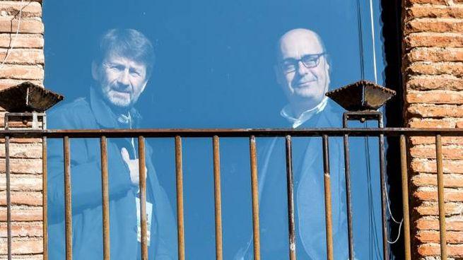 Dario Franceschini e Nicola Zingaretti (ImagoE)