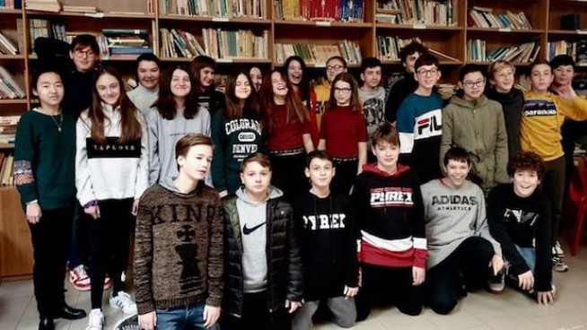 Studenti nella nuova biblioteca
