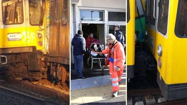 Scontro nella metro di Napoli. Almeno 9 feriti (combo)