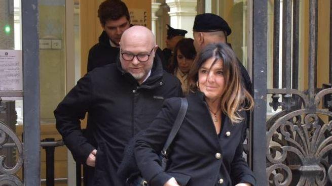 Filippo Nogarin all'uscita dal Tribunale (foto Novi)