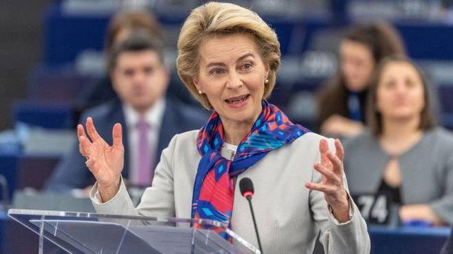 La presidente della Commissione europea Ursula von der Leyen (Ansa)