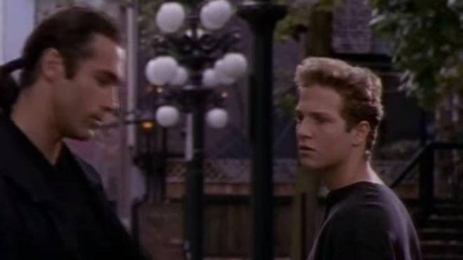 "Adrian Paul (Duncan MacLeod) e Stan Kirsch (Richie Ryan) nel telefilm ""Highlander"""