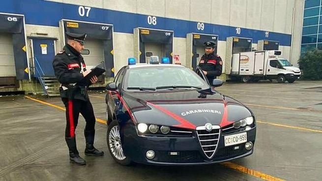 I carabinieri sul posto dei tre arresti